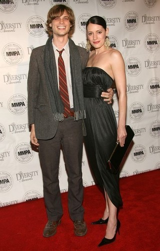 Paget Brewster wallpaper containing a business suit, a well dressed person, and a suit entitled Paget & Matthew