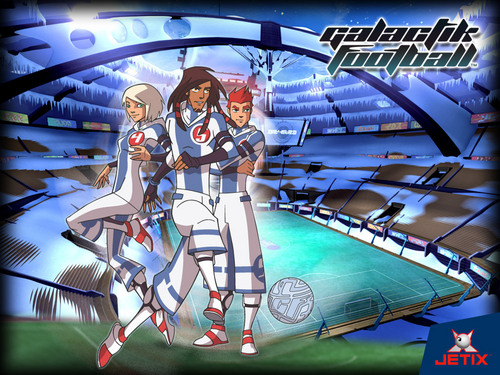 Galactik Football پیپر وال probably with a sign and عملی حکمت titled Part of the team and عنوان