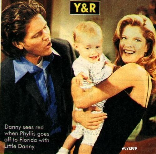 The Young and the Restless wallpaper entitled Phyllis & Danny with Daniel when he was little