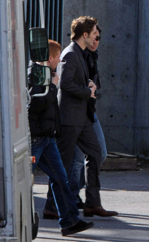 "Robert on the set of ""New Moon"" - March 13"