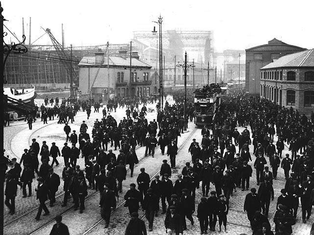 Ship Yard Workers In 1911 R M S Titanic Photo 4913860