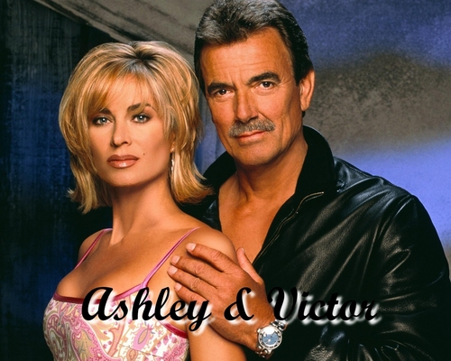 The Young and the Restless wallpaper containing a portrait entitled Victor Newman & Ashley Abbott