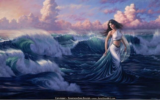 Fantasy water goddess
