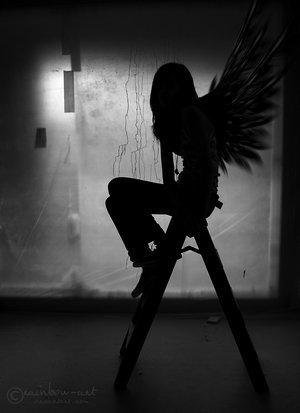 angel - the-beauty-of-black-and-white Photo
