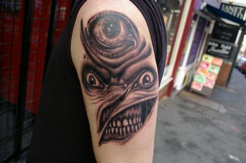 horror style tattoo
