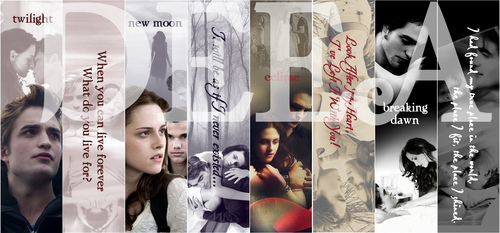 Twilight Series wallpaper possibly with a sign titled twilight saga bookmarks