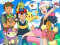Ash Brock Dawn and Pokemon