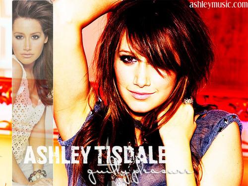 Ashley Tisdale Hintergrund with a portrait called Ashley