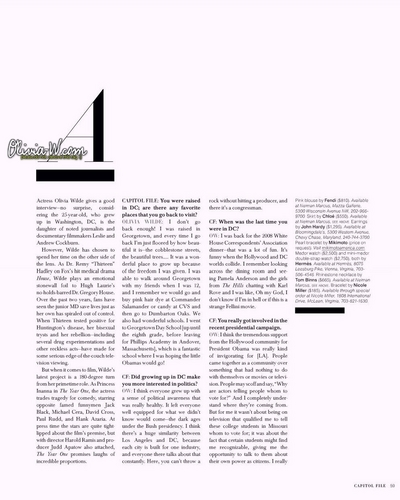 Capitol Files Magazine Interview (March 2009)