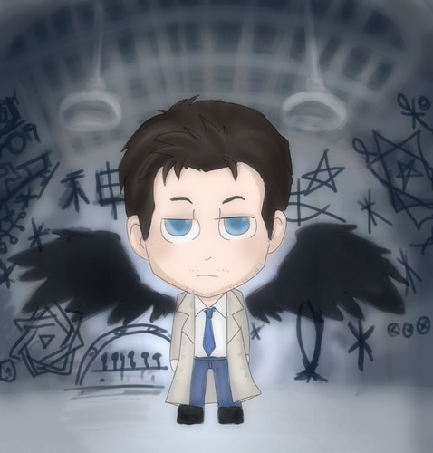 Castiel Cartoon