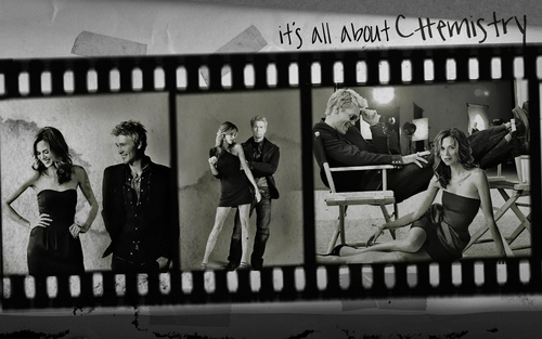 Chad and Hilarie Hintergrund with a street, a sign, and a penal institution entitled Chil! <3