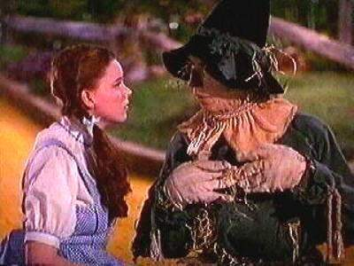 The Wizard of Oz wallpaper probably containing a rifleman entitled Dorothy and the Scarecrow