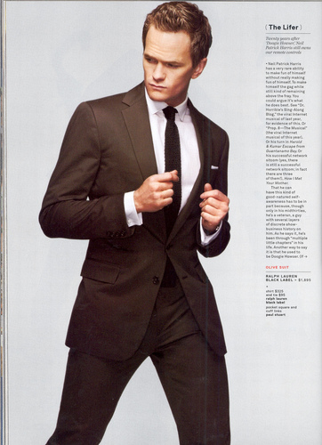 Neil Patrick Harris wallpaper containing a business suit, a suit, and a two piece entitled GQ April 2009