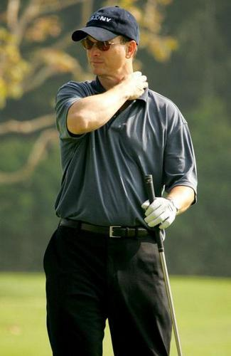 Gary playing golf ;)