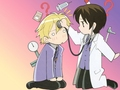 Haruhi and Tamaki - ouran-high-school-host-club photo