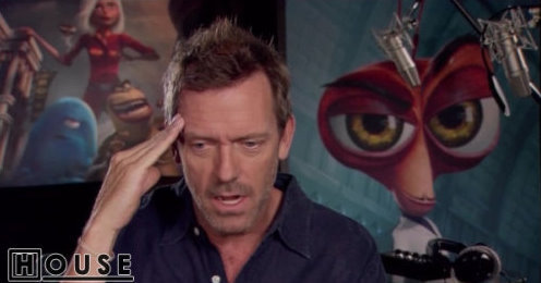 "Hugh Laurie: ""Monsters vs. Aliens"""