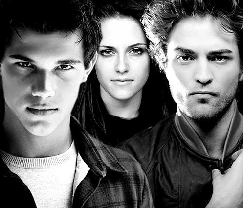 Twilight Series wallpaper containing a portrait entitled Jacob, Bella & Edward <3