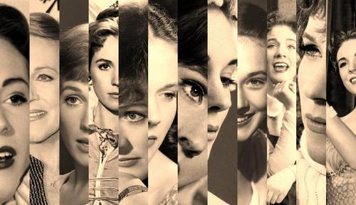 Julie Andrews (sepia collage)