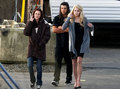Kristen, Taylor, & Nikki On Set of New Moon - twilight-series photo