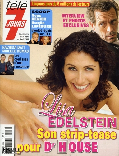 Lisabians Hintergrund with a portrait and Anime entitled Lisa Edelstein: Télé 7 Jours