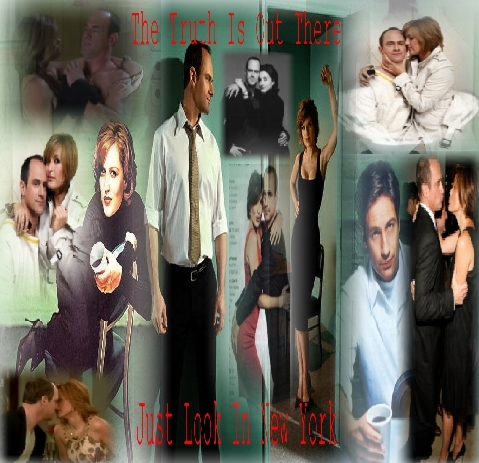 Elliot and Olivia wallpaper possibly with long trousers entitled LivEllTheTruthIsOutThereCollage