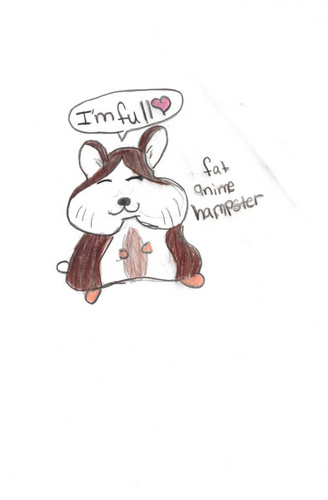 My ऐनीमे hampster drawing