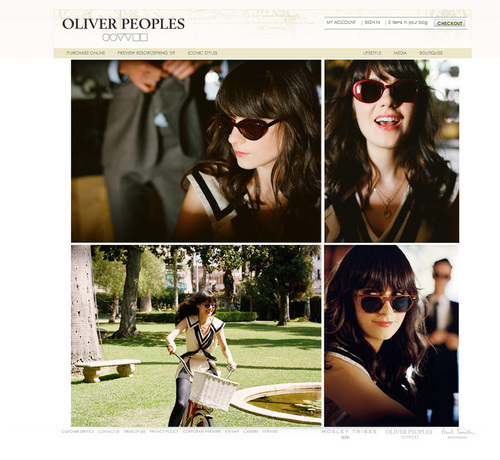 Zooey Deschanel wallpaper containing sunglasses called Random Zooey