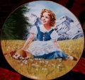 Shirley Temple as Heidi Collector Plate