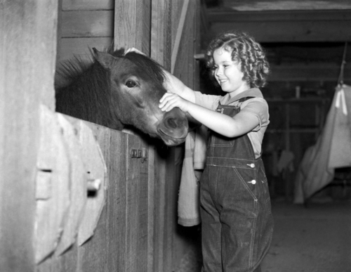 Shirley Temple in Curly top, boven
