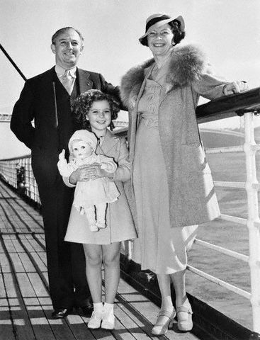Shirley Temple with her Parents - shirley-temple Photo