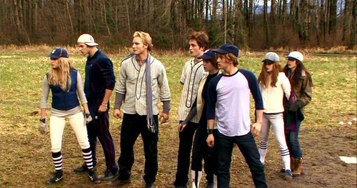 THE CULLENS AT THE BASEBALL FIELD