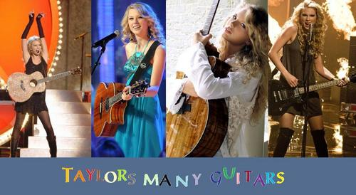 Taylor's Many Guitars