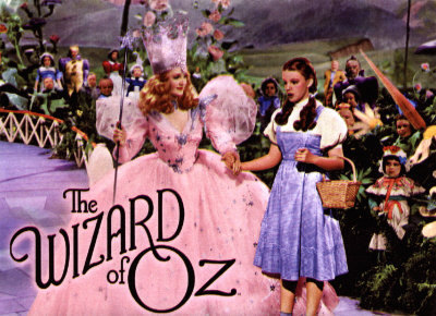 The Wizard of Oz wallpaper probably containing a bridesmaid titled Glinda and Dorothy