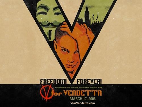 V for Vendetta karatasi la kupamba ukuta