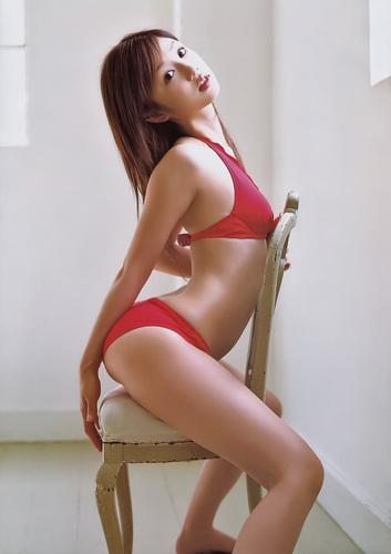 Yuko red bikini