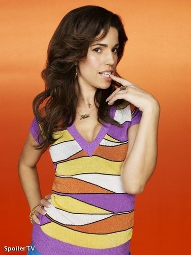 Ugly Betty wallpaper containing a bustier and tights called ana ortiz/ hilda suarez