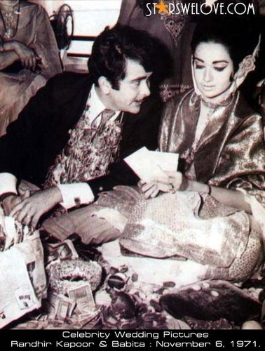 celeb weddings wallpaper containing an atlantic herring, a pacific sardine, and a herring titled babita and randhir kapoor