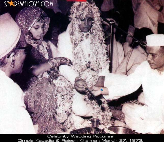 kaka and dimple wedding pic - rajesh-khanna photo
