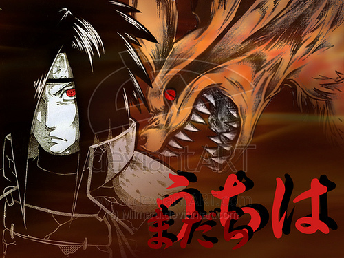 Madara Uchiha wallpaper probably containing anime called madara and nine tailed fox