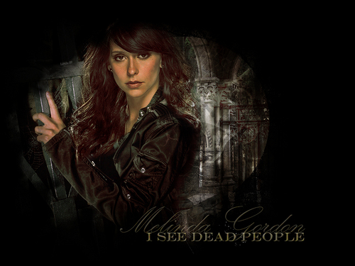 Ghost Whisperer wallpaper probably containing a well dressed person, a business suit, and a concert called melinda gordon