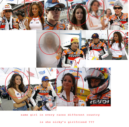 Nicky Hayden wallpaper entitled nicky's girlfriend ???