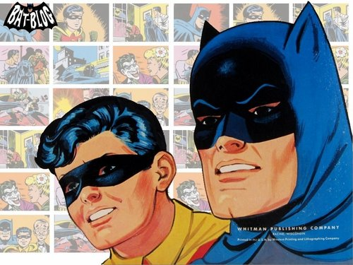 Batman wallpaper containing anime entitled 60's Batman and Robin