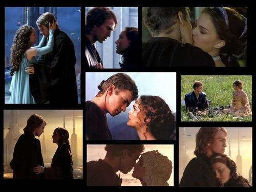 Anakin and Padme 壁纸 probably containing a business suit titled Anakin and Padme