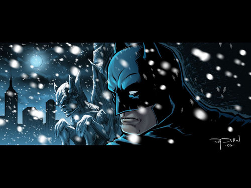 Batman in the winter - batman Wallpaper