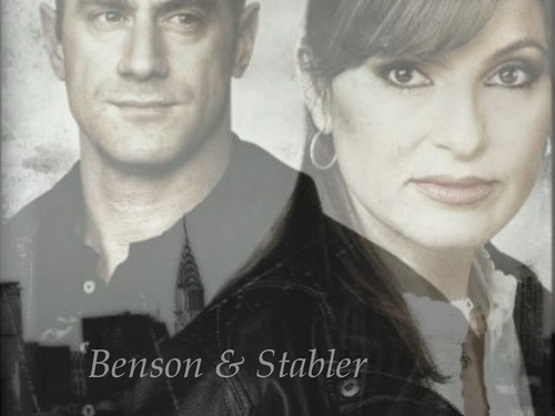 Elliot and Olivia wallpaper with a portrait called Benson & Stabler