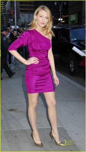 Blake Lively at Late প্রদর্শনী With David Letterman