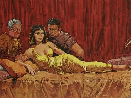 Elizabeth Taylor karatasi la kupamba ukuta entitled Cleopatra