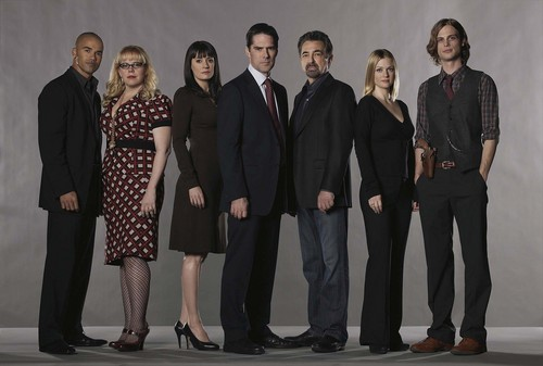 Criminal Minds wallpaper containing a business suit entitled Criminal Minds Cast (HQ)