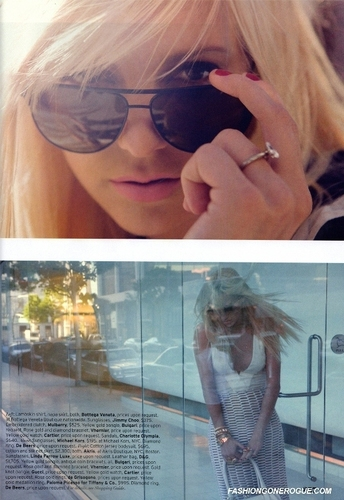 Anna Faris wallpaper containing sunglasses called ELLE magazine April 2009