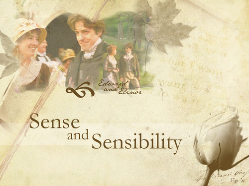 Sense and Sensibility 바탕화면 probably with a sign and a 거리 entitled Elinor & Edward